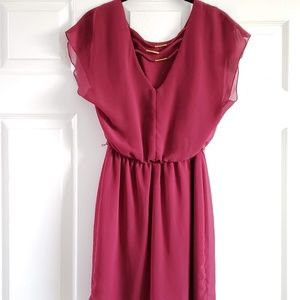 City Triangles Dresses - Wine Colored Dress